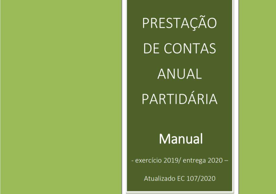 Manual PRESTAÇÃO DE CONTAS ANUAL PARTIDÁRIA