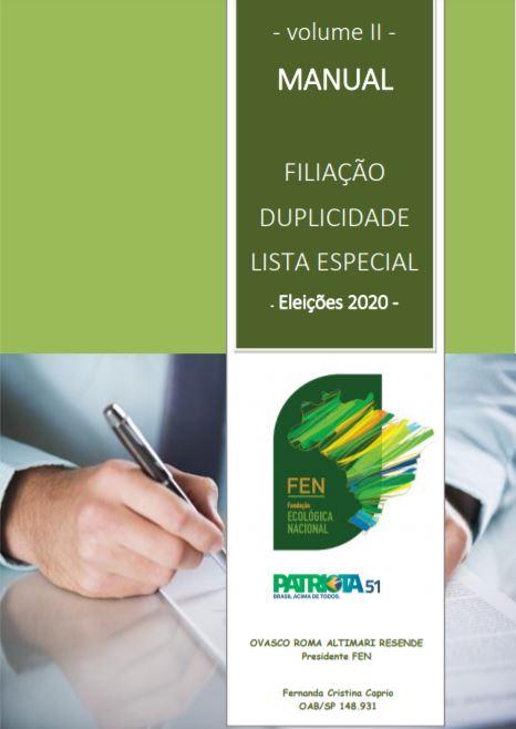 Manual – Filiação – Duplicidade Lista Especial